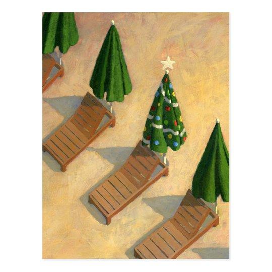 Beach Chairs Christmas postcard