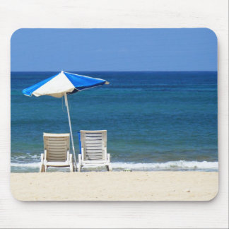 Beach chairs mouse mat