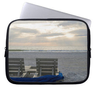 Beach chairs on St. Pete's beach at sunset. Laptop Sleeve