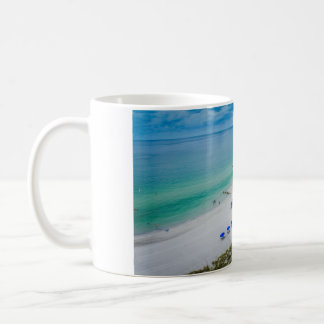 Beach Chairs with Blue Umbrella on Madeira Beach Coffee Mug