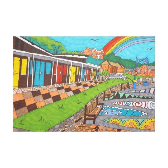 Beach Chalets Canvas Print