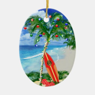 Beach Christmas Christmas Ornament