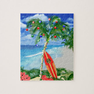 Beach Christmas Jigsaw Puzzle