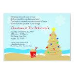 "Beach Christmas Tree Castle 5x7 Custom Invitation 5"" X 7"" Invitation Card"