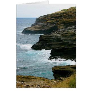 Beach cliffs card