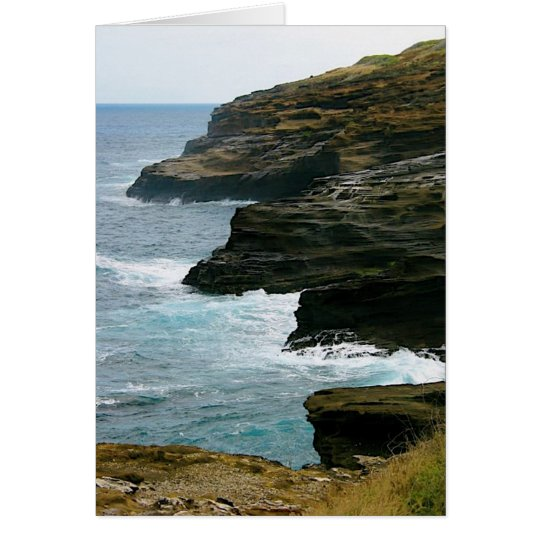 Beach cliffs card