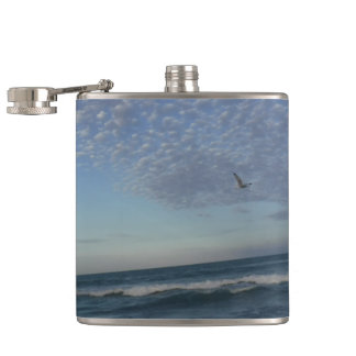 Beach Clouds Hip Flask