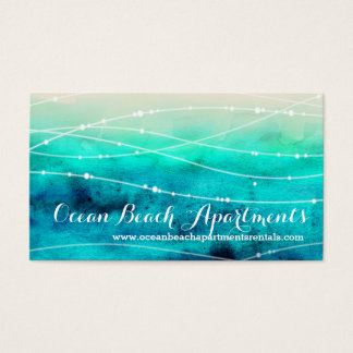 Beach coastal property letting business cards