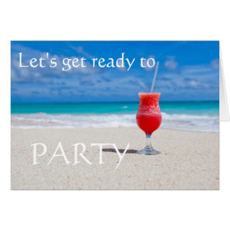 Beach Cocktail save the date Greeting Card