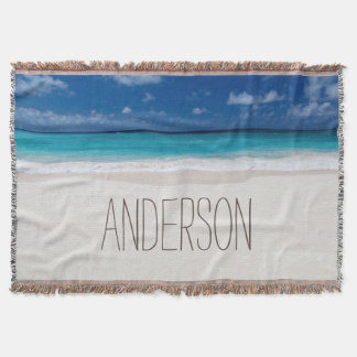 Beach Collection Custom Name Throw Blanket