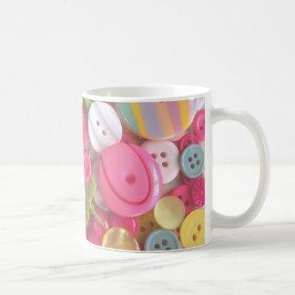 Beach Color Button Collage Coffee Mug