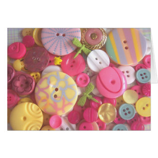 Beach Color Buttons Greeting Cards