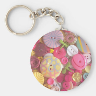 Beach Color Buttons Keychain