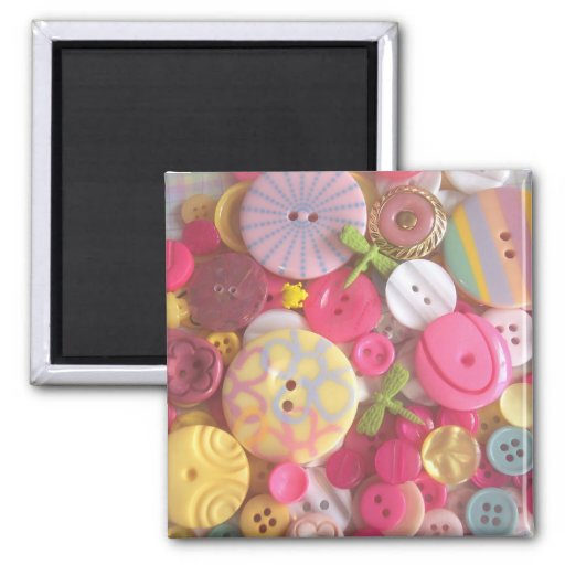 Beach Color Buttons Magnets