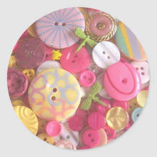 Beach Color Buttons Round Sticker