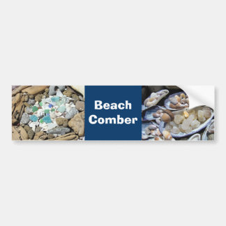 Beach Comber bumper stickers Rocks Agates Fossils