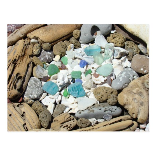 Beach Combers postcards Sea Glass Driftwood