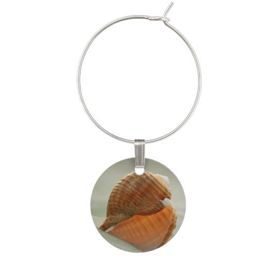 Beach Conch Seashell Wine Charm