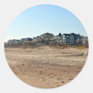 Beach Condos Round Sticker