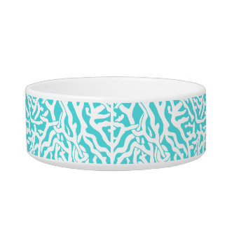 Beach Coral Reef Pattern Nautical White Blue Bowl