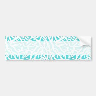 Beach Coral Reef Pattern Nautical White Blue Bumper Sticker