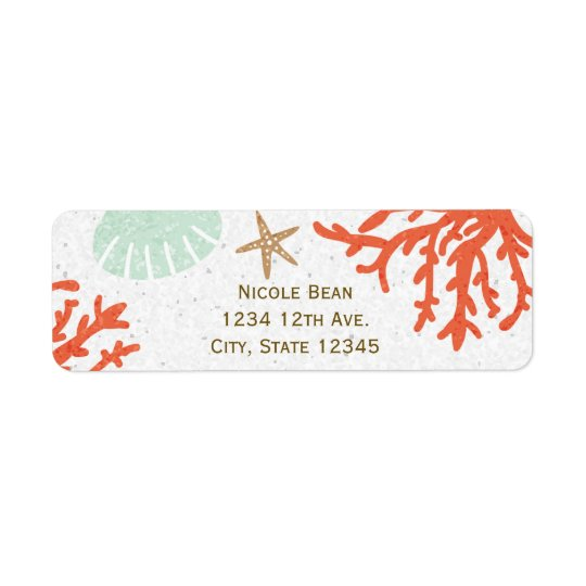 Beach Coral Reef Sea Shell Starfish Address Labels