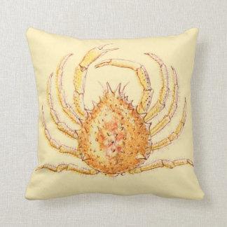 Beach Cottage Decor Accent Pillow Large Crab