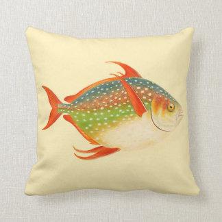 Beach Cottage Decor Accent Pillow Large Fish