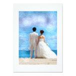 Beach couple wedding invitation 13 cm x 18 cm invitation card