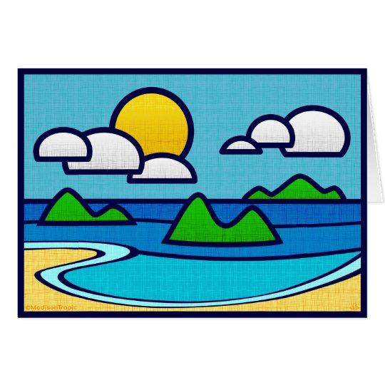 Beach Cove card. Blank inside. Card