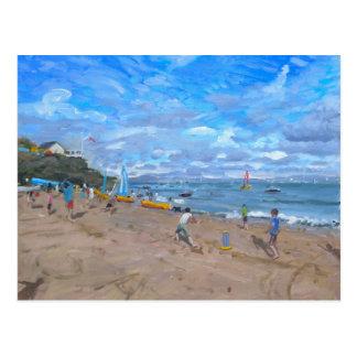 Beach cricket Abersoch 2013 Postcard