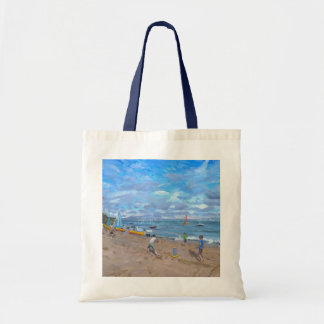 Beach cricket Abersoch 2013 Tote Bag