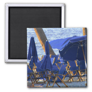 Beach Crowd by Leslie Peppers Refrigerator Magnet