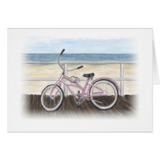 Beach Cruiser on the Boardwalk Notecard