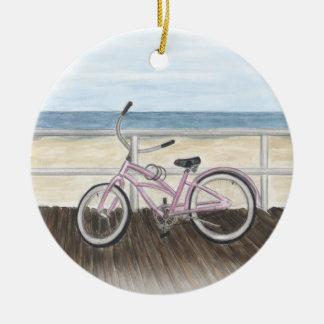 Beach Cruiser on the Boardwalk Ornament