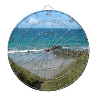 beach dartboard with darts