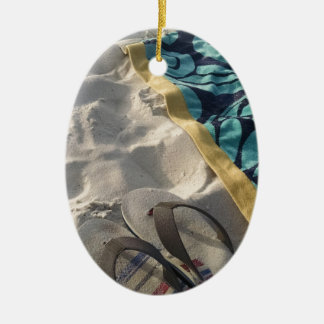 Beach Day Christmas Ornament