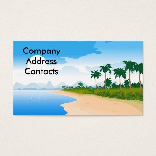 beach_day, CompanyAddressContacts Business Card