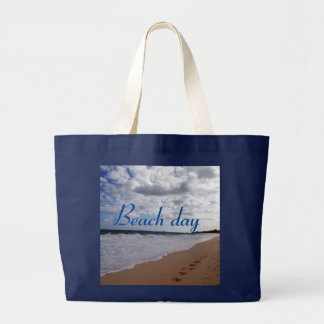 Beach day large tote bag