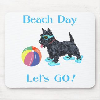 Beach Day Scottie Dog Mouse Pad