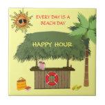 BEACH DAYS Tiki Hut Bar Tropical Happy Hour Funny