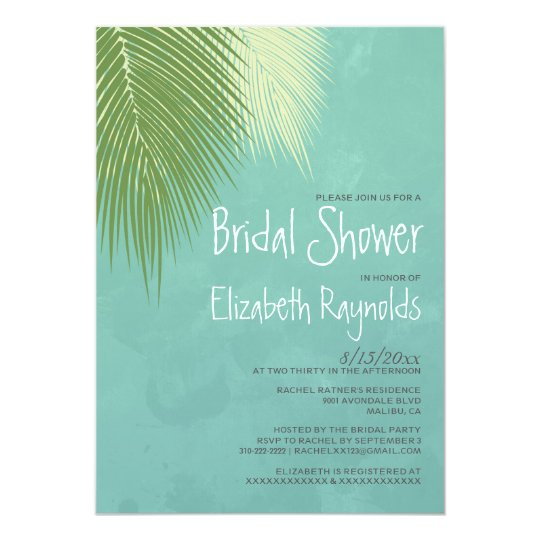 Beach Destination Bridal Shower Invitations