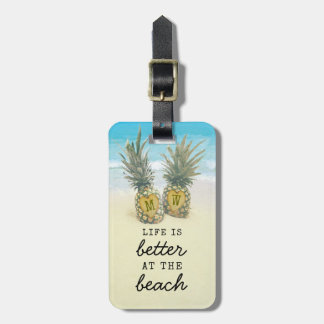 Beach Destination Tropical Pineapple Bag Attention Luggage Tag