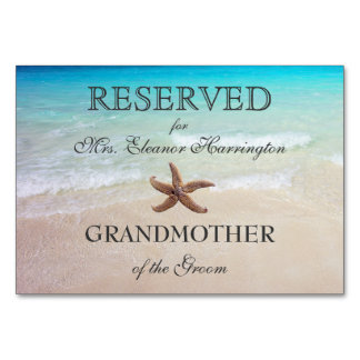 Beach Destination Wedding Reserved Seating Cards Table Card