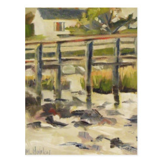 Beach Dock at the Marsh Postcard