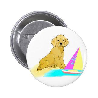 Beach Dog 6 Cm Round Badge