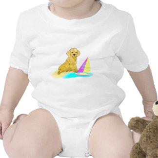 Beach Dog Baby Bodysuits