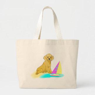Beach Dog Jumbo Tote Bag