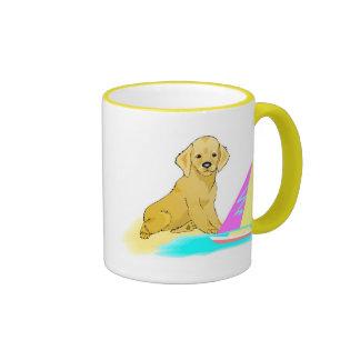 Beach Dog Ringer Mug