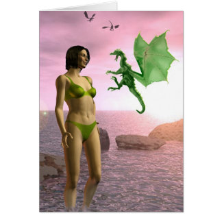 Beach Dragon Card
